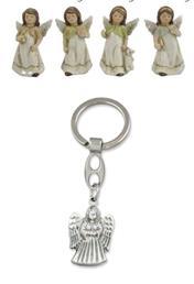 Schutzengel 4er Set Engel stehend Höhe 9,5cm mit Schlüsselanhänger Engel stehend (4424414424)