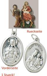 Krippenblock Heilige Familie auf der Flucht geeignet für 5cm Figuren mit einem Anhänger Herz Jesu 2,5cm (4494419552)