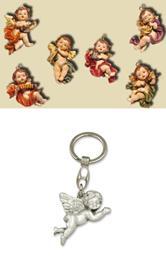 Schutzengel Engel hängend, 6er Set, Höhe ca. 5,5cm mit Schlüsselanhänger Engel fliegend (4414482)