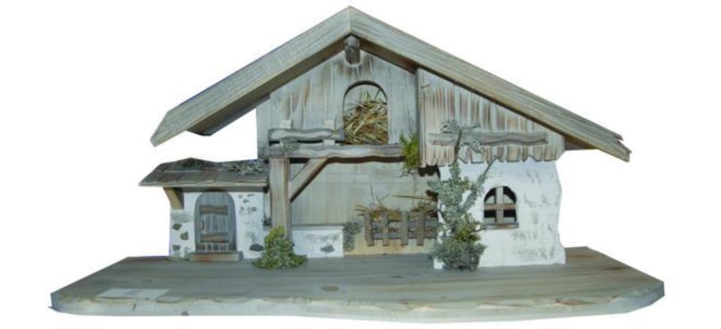 Krippenstall Stall Osser 70x30x33cm geeignet für 11-13cm Figuren (441009)
