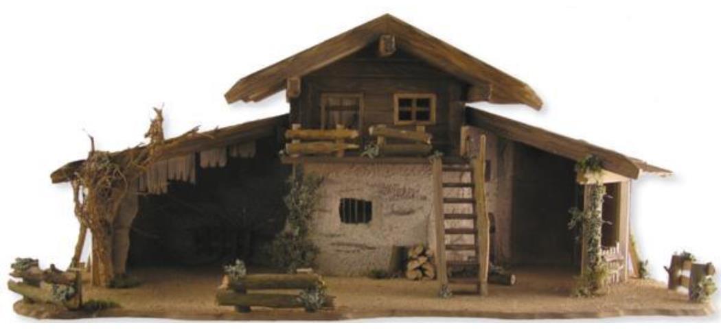 Krippenstall Stall 100x41x44cm geeignet für 11-15cm Figuren (441028)
