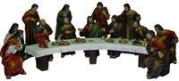 Krippenfiguren Passionsfiguren letztes Abendmahl, geeignet für 9cm Figuren  (4410955)