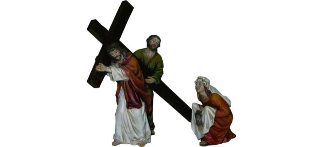 Krippenfiguren Passionsfiguren Passionsweg, geeignet für 9cm Figuren, handbemalen (4410957)