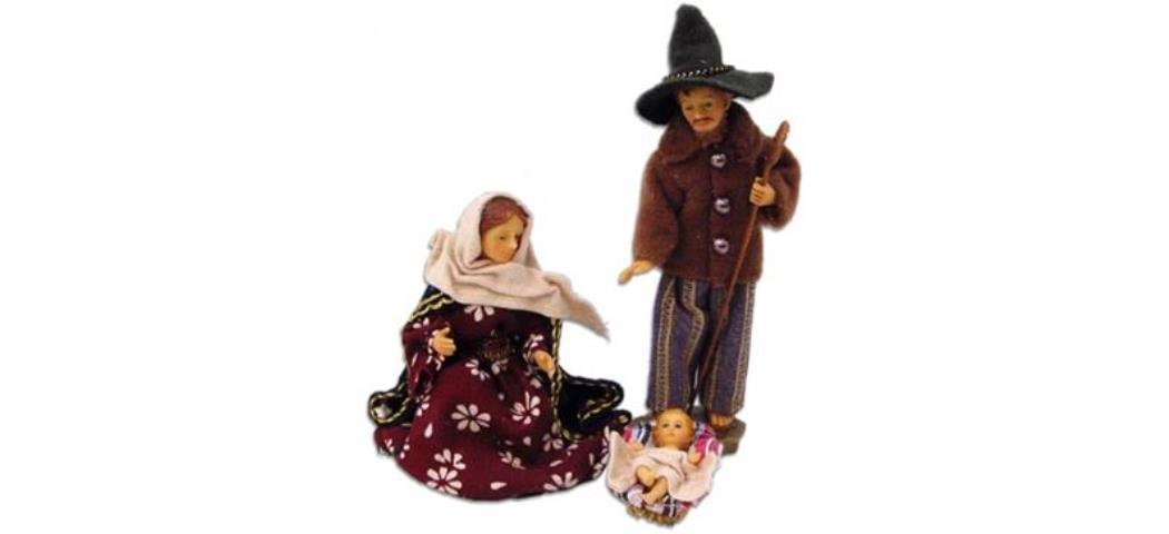 Krippenfiguren Heilige Familie alpenländisch 3tlg. für 13cm Figuren (4410990)