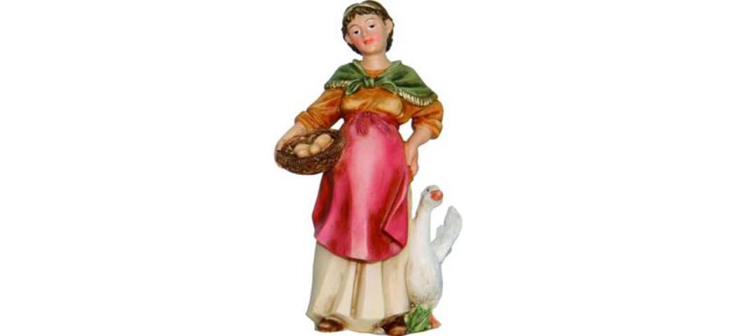 Krippenfiguren Bäuerin, geeignet für 9-10cm Figuren, handbemalen (4411050)