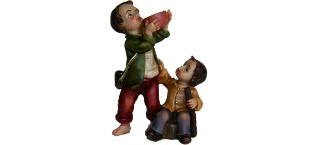 Krippenfiguren Kinder, geeignet für 9-10cm Figuren, handbemalen (4411072)