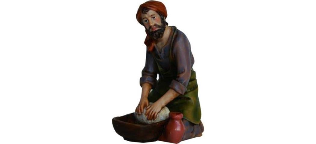 Krippenfiguren Töpfer, geeignet für 11-12cm Figuren, handbemalen (4411074)