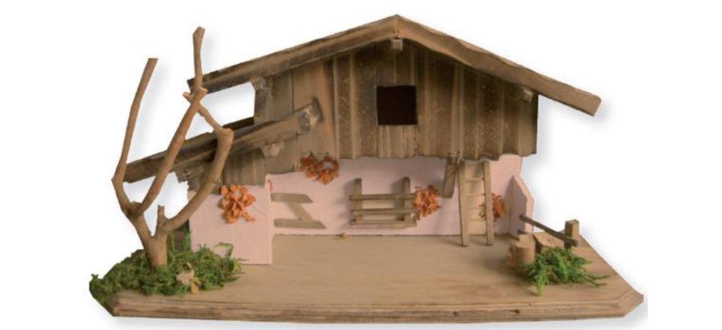 Krippenstall Stall 37x15x20cm geeignet für 5-7cm Figuren (4411132)