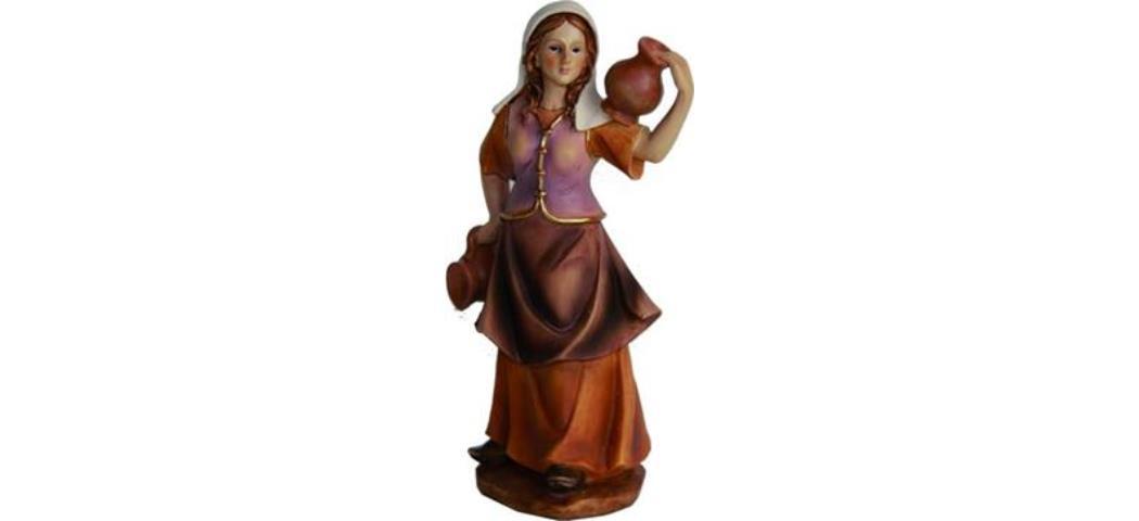 Krippenfiguren Magd mit Krug auf Schulter, geeignet für 7cm Figuren (4411211)
