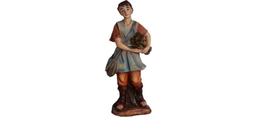 Krippenfiguren Junge mit Holz, geeignet für 7cm Figuren, hanbemalen (4411230)