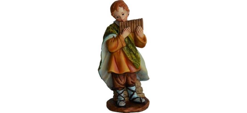 Krippenfiguren Kind mit Panflöte, geeignet für 7cm Figuren (4411232)
