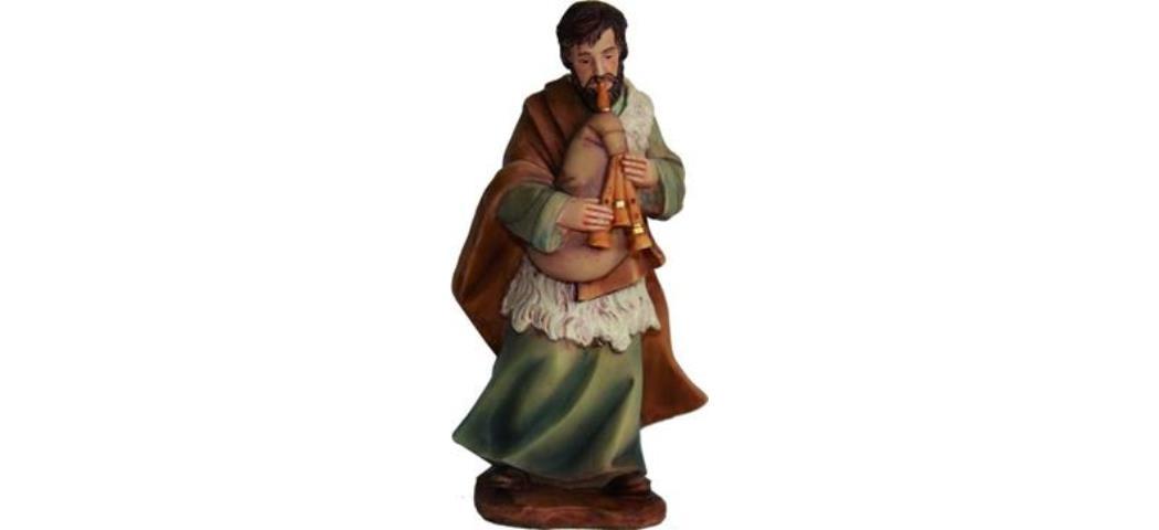 Krippenfiguren Hirte mit Dudelsack, geeignet für 11cm Figuren (4411281)