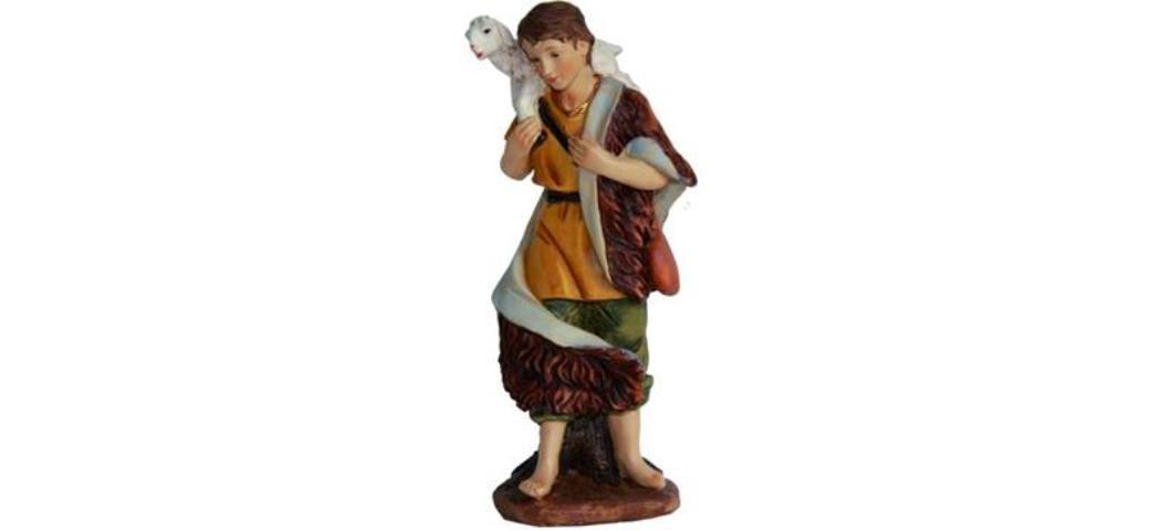Krippenfiguren Hirte mit Schaf auf Schulter,  für 15cm Figuren (4411291)
