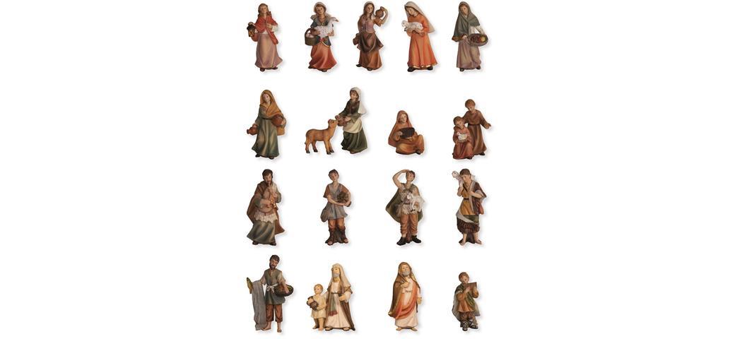 Krippenfiguren Markus Krippe, Zusatzfiguren 23tlg., geeignet für 9cm Figuren (4411344)