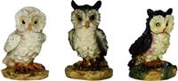 Krippenzubehör Eulen 3tlg. Höhe 2,8cm geeignet für 11-13cm Figuren (4411541)