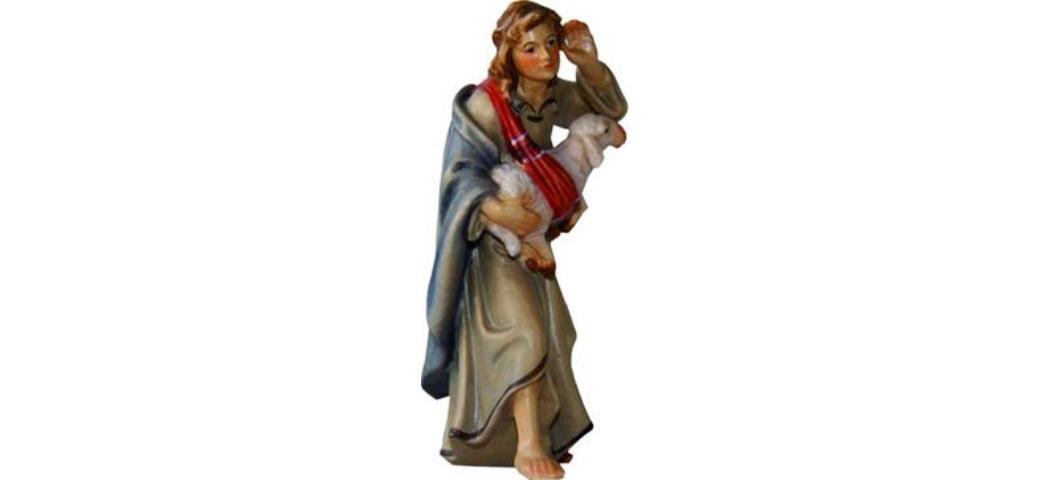 Krippenfigur Schäfer mit Schaf, geeignet für 9cm Figuren (4411650)