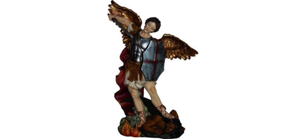 Heiligenfigur, Heiliger Michael, Höhe 28cm (4412640)