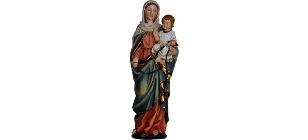 Heiligenfigur Heilige Madonna mit Kind, Höhe 14cm, handbemalen (4412649)