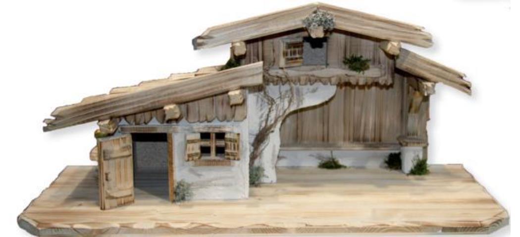 Krippenstall Stall 70x29x31cm geeignet für 9-15cm Figuren (4412666)