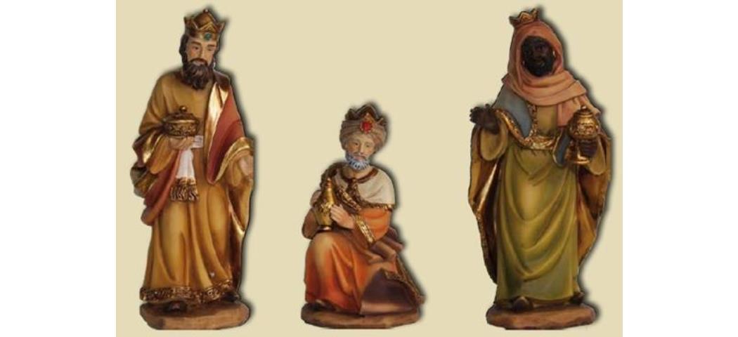 Krippenfiguren Heilige drei Könige, 3tlg. geeignet für 9cm Figuren (4412673)