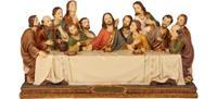Passion Heiligenfigurn Abendmahl, B 17cm, T 6cm, H 9,5cm, handbemalen (4412714)