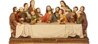 Passion Heiligenfiguren Abendmahl, B 30cm, T 10cm, H 16cm, handbemahlen (4412715)