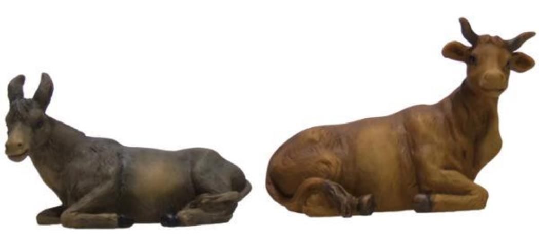 Krippenfiguren Ochs und Esel 2tlg. geeignet für 19cm Figuren (4412726)