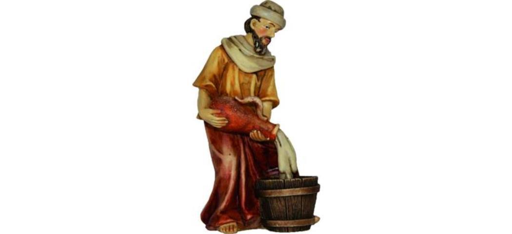 Krippenfiguren Bauer mit Amphore, geeignet für 10cm Figuren, (4412728)