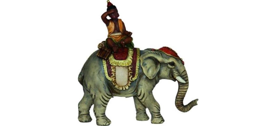 Krippenfiguren Elefant mit Mohr, geeignet für 10cm Figuren (4412729)