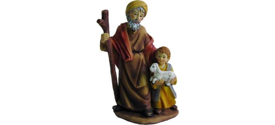 Krippenfiguren Alter Mann mit Junge, geeignet für 15cm Figuren (4412744)