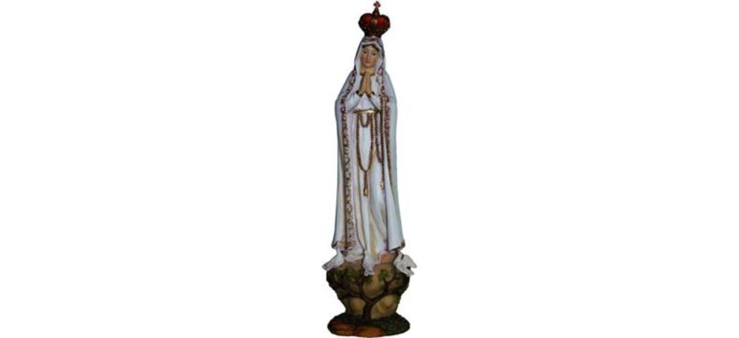 Heiligenfigur Madonna Fatima, Höhe 22cm, handbemalen (4412768)