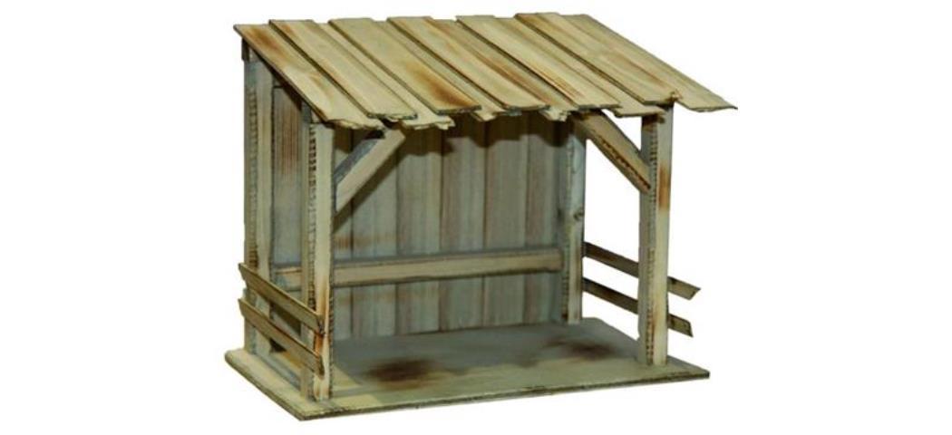 Krippenstall Stall 26x16x21cm, für 12-15cm Figuren (4412778)