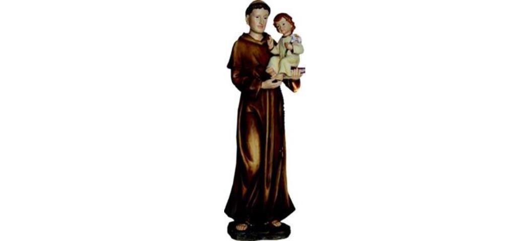 Heiligenfigur Heiliger Antonius mit Kind und Lilie 22cm (4412810)