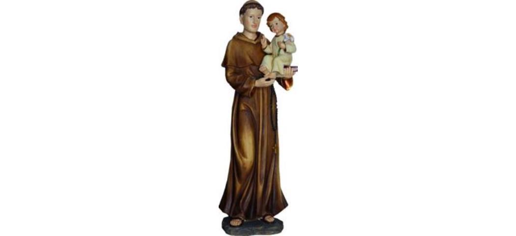 Heiligenfigur Heiliger Antonius mit Kind und Lilie 14cm, Heiligenfigur (4412811)