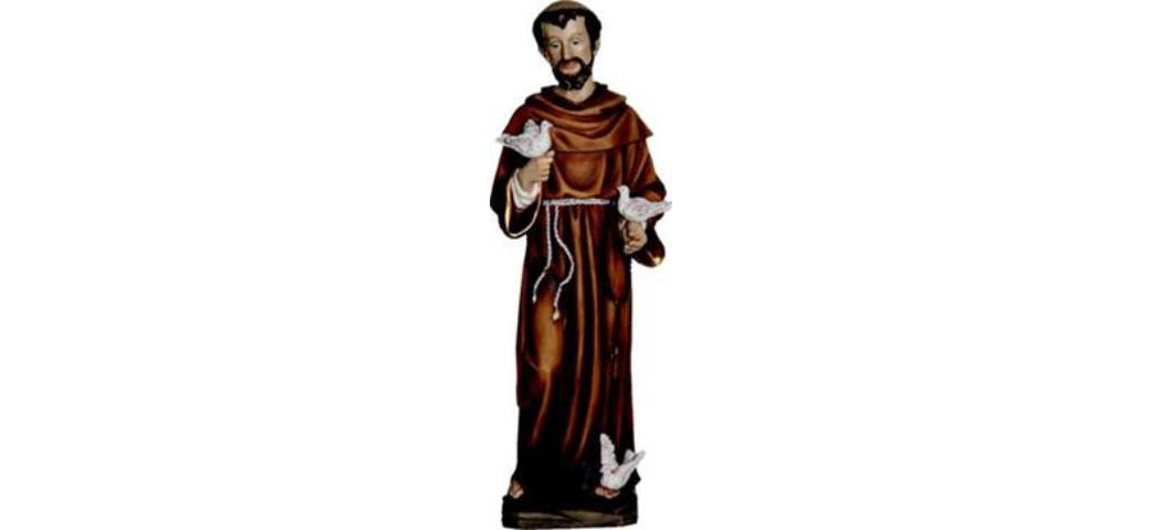 Heiligenfigur Heiliger Franziskus mit Tauben 22cm (4412814)