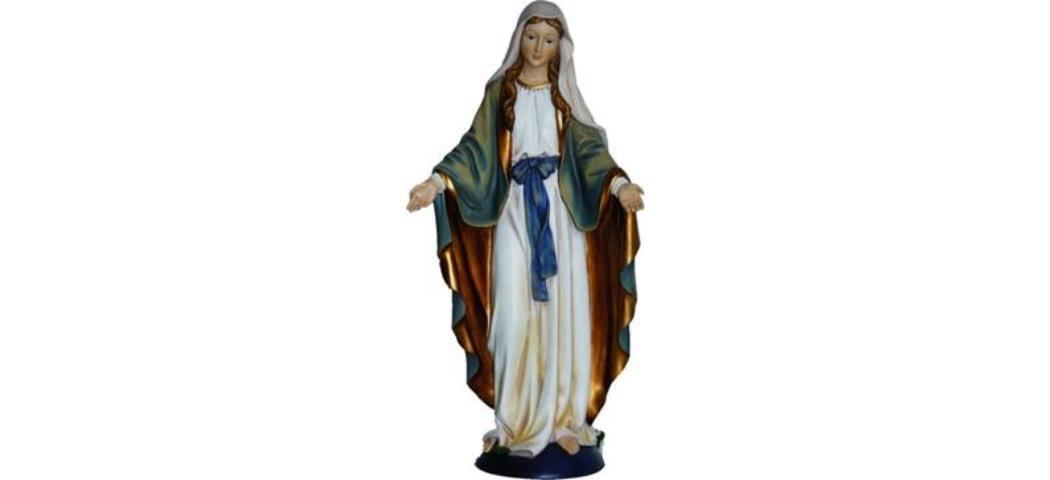 Heiligenfigur Madonna Immaculata blau/weiss, Höhe ca. 15cm, handbemalen (4412824)