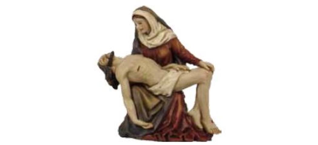 Krippenfiguren Passionsfigur Kreuzabnahme, geeignet für 9cm Figuren, handbemalen (4412831)