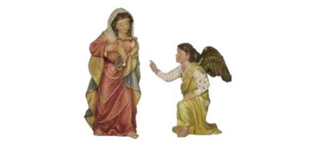 Krippenfiguren Passionsfigur Maria Verkündigung 2tlg., geeignet für 9cm Figuren (4413008)