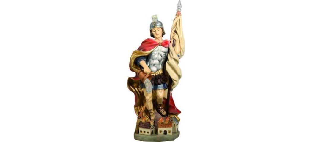 Heiligenfigur Heiliger Florian, Höhe 12cm, handbemalen (44189)
