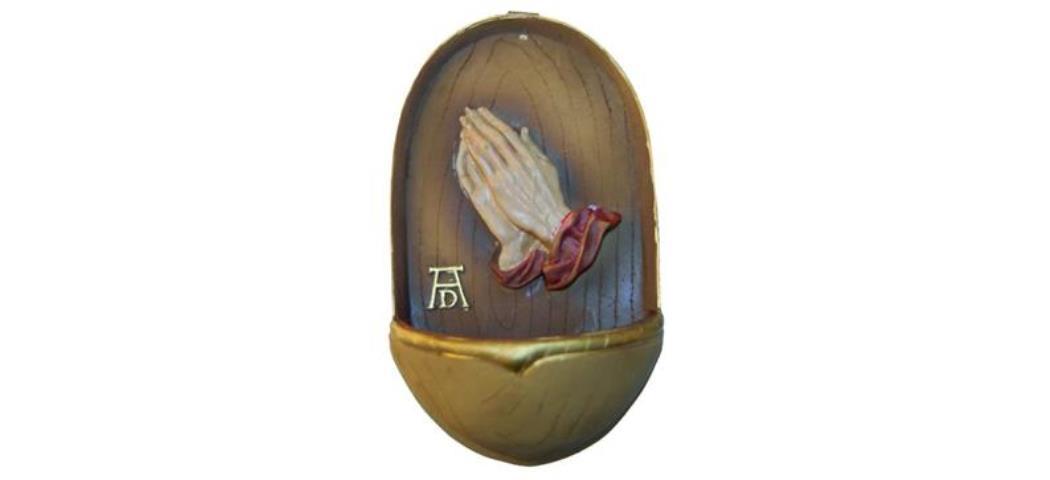 Weihwasserkessel Betende Hände, Höhe 12cm (44219)