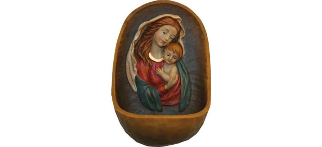 Weihwasserkessel Maria mit Kind, Höhe 12cm (44224)