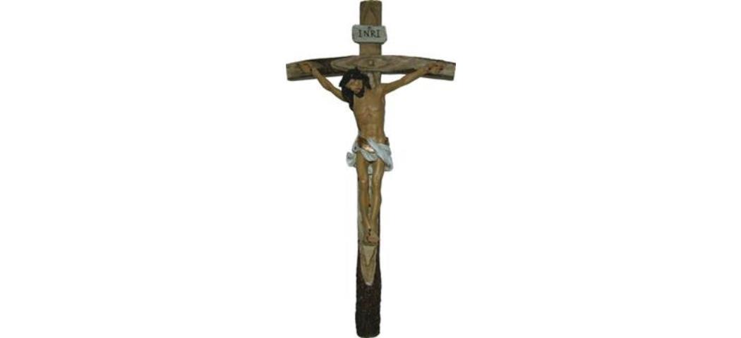 Kruzifix Kreuz mit Jesus Christus Höhe 40cm, handbemalen, (44242)