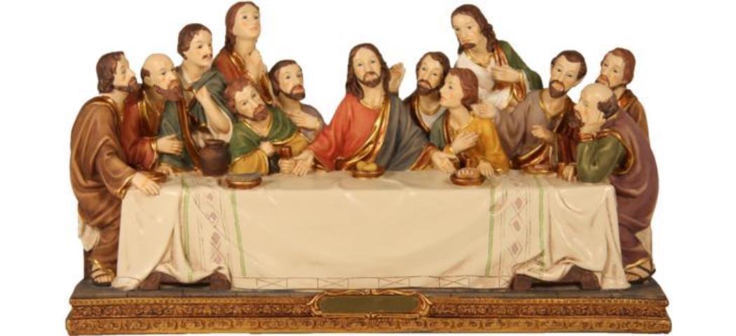 Passion Heiligenfiguren Letztes Abendmahl, Höhe 8cm, handbemalen (44274)