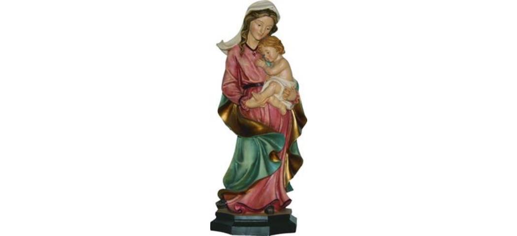 Heiligenfigur Heilige Madonna, Höhe 30cm, handbemalen (44309)