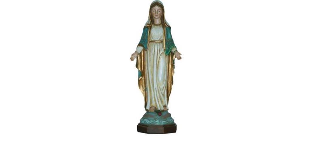 Heiligenfigur Madonna Immaculata, Holzoptik,  Höhe 30cm (44324)