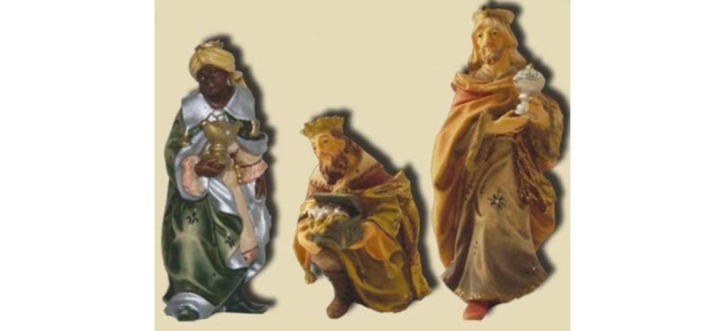 Krippenfiguren Heilige drei Könige, 3tlg. geeignet für 11cm Figuren (44595)
