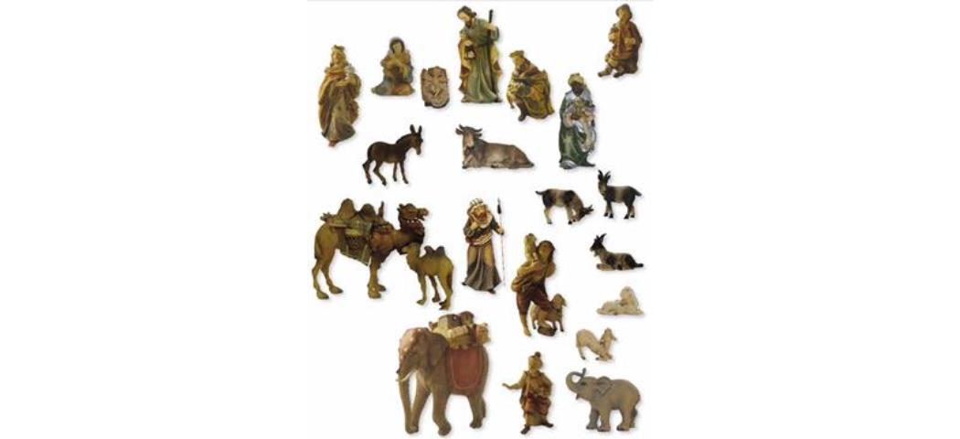 Krippenfiguren Mathiaskrippenfiguren, Krippe, 23tlg. geeignet für 9cm Figuren (44616)