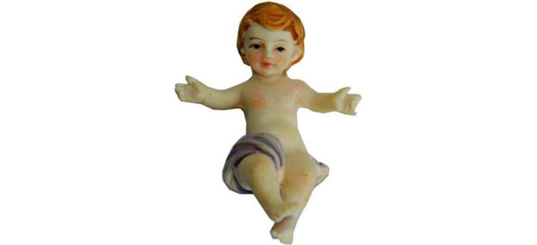 Krippenfiguren Jesuskind lose, für 13cm Figuren, handbemalen (44643)