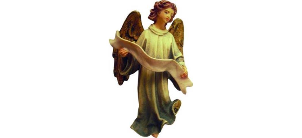 Krippenfigur Engel geeignet für 13cm Figuren, handbemalen (44646)