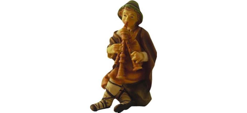 Krippenfiguren Hirte mit Dudelsack, geeignet für 13cm Figuren (44647)